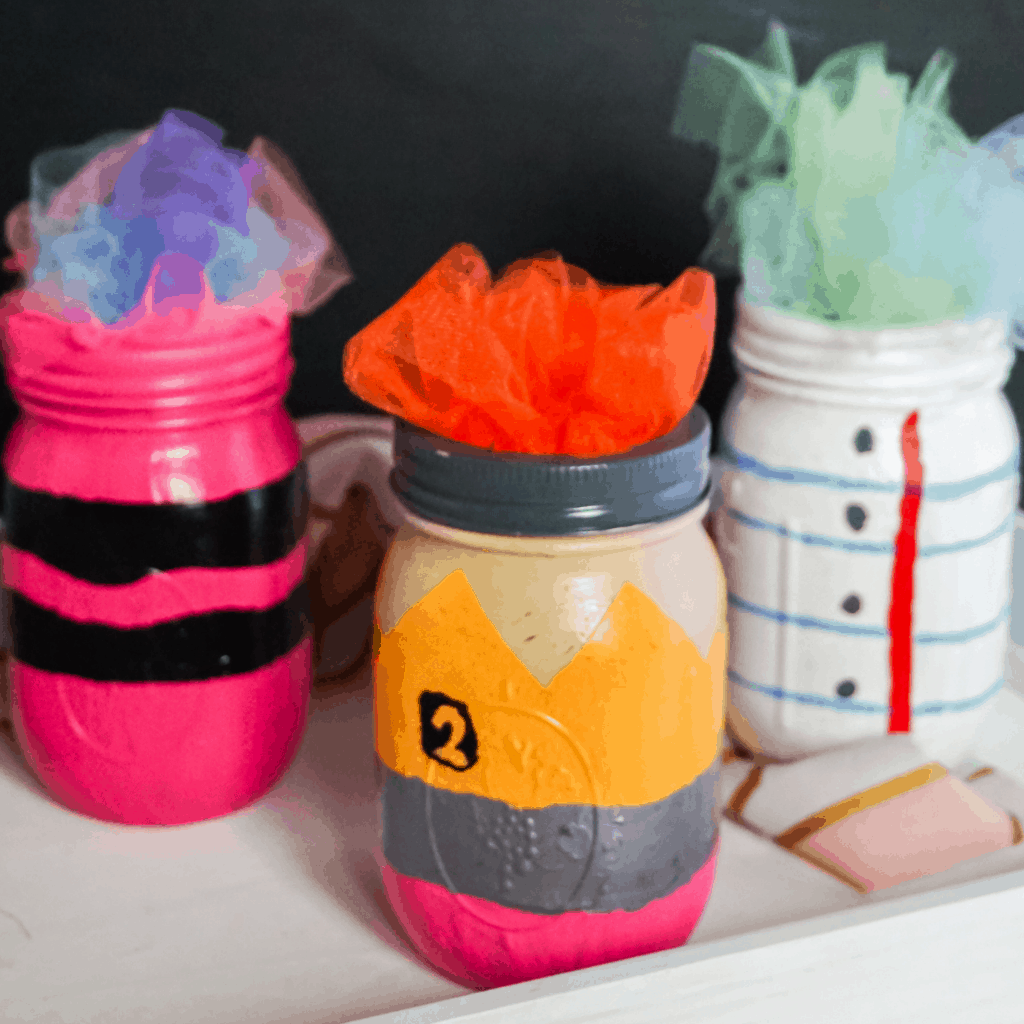 Painted Mason Jar Craft