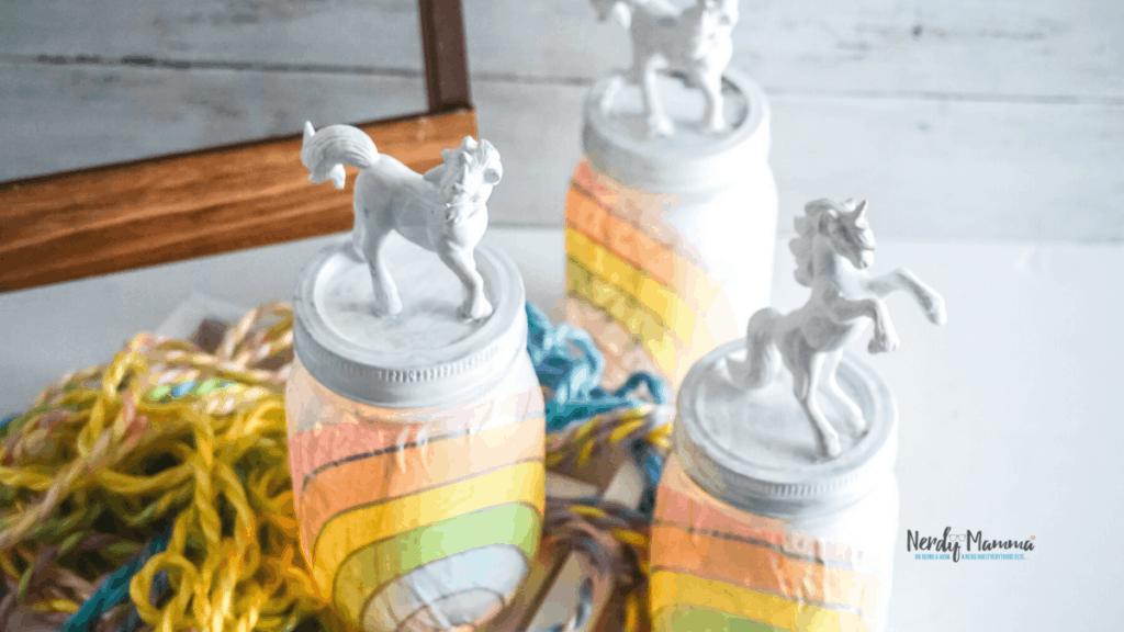Rainbow Unicorn Mason Jar Nightlights Nerdy Mamma