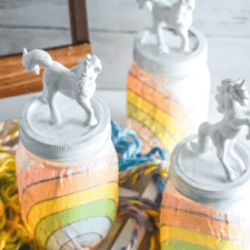 Rainbow Unicorn Mason Jar Nightlights
