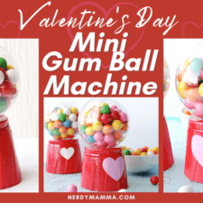 Valentines Mini Gum Ball Machines
