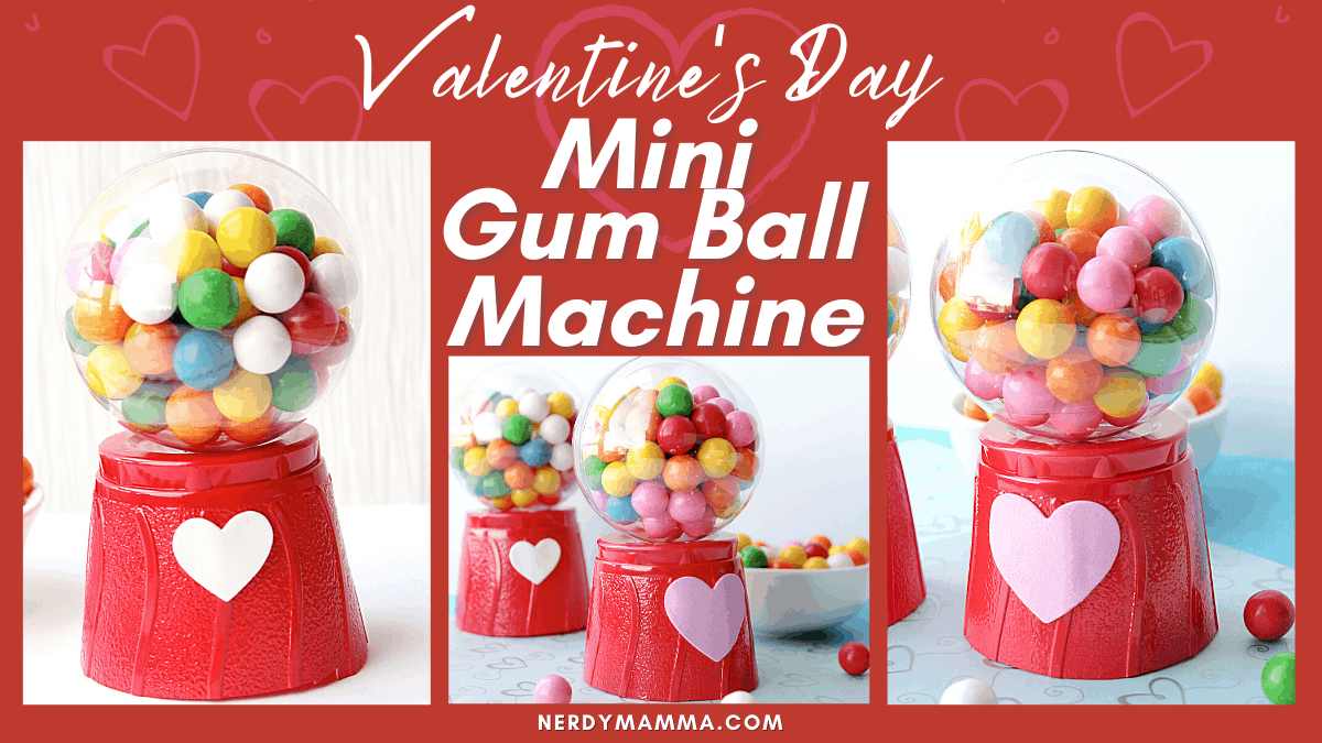 Valentines Day Mini Gum Ball Machines