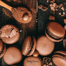 Hot Cocoa Macarons Recipe – with Caramel Bits