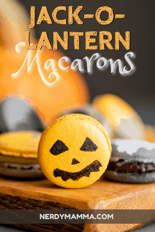 Jack O Lantern Macarons