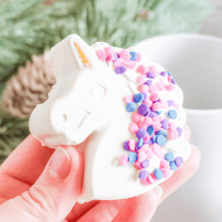 Unicorn Hot Cocoa Bombs