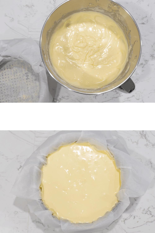 Baking the Basque Burnt Cheesecake