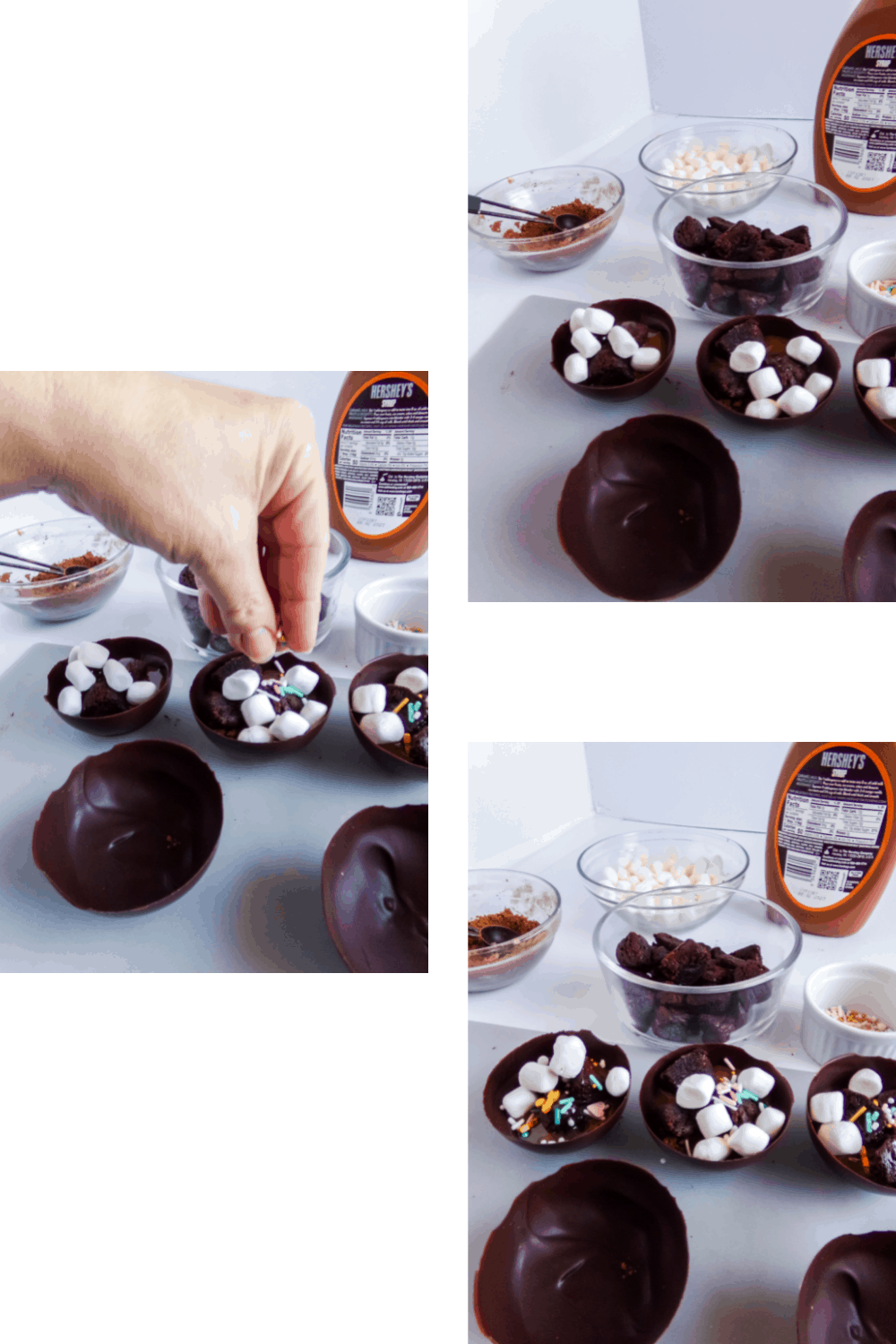Brownie Hot Cocoa Bombs