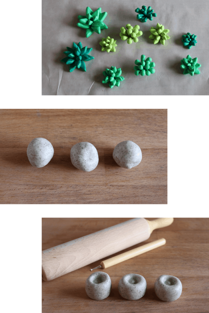 Easy Clay Succulent Craft