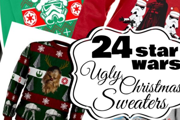 It's the coolest list of nerdy ugly Christmas Sweaters ever. It's 24 Star Wars Ugly Christmas Sweaters. Your husband/sister/mom/uncle...everyone will love one.